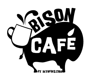 Revamped Bison Cafe's logo