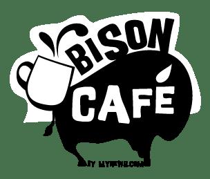 Revamped Bison Cafe's logo